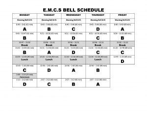 Bell Schedule 2016