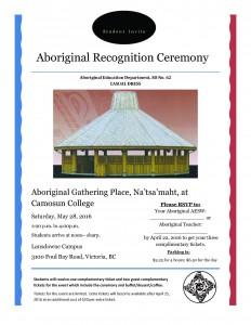 Aboriginal Recognition Ceremony